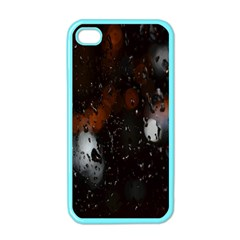 Lights And Drops While On The Road Apple Iphone 4 Case (color) by Simbadda