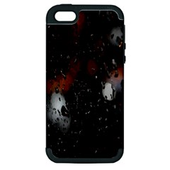 Lights And Drops While On The Road Apple Iphone 5 Hardshell Case (pc+silicone) by Simbadda