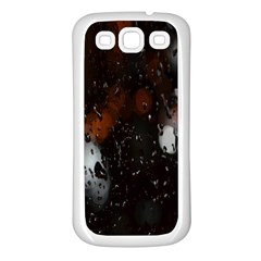 Lights And Drops While On The Road Samsung Galaxy S3 Back Case (white) by Simbadda