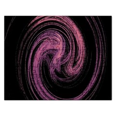 A Pink Purple Swirl Fractal And Flame Style Rectangular Jigsaw Puzzl by Simbadda