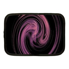 A Pink Purple Swirl Fractal And Flame Style Netbook Case (medium)  by Simbadda