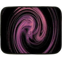 A Pink Purple Swirl Fractal And Flame Style Fleece Blanket (mini)