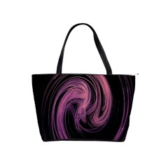 A Pink Purple Swirl Fractal And Flame Style Shoulder Handbags by Simbadda