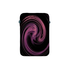 A Pink Purple Swirl Fractal And Flame Style Apple Ipad Mini Protective Soft Cases by Simbadda