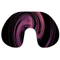 A Pink Purple Swirl Fractal And Flame Style Travel Neck Pillows