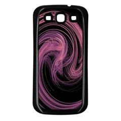 A Pink Purple Swirl Fractal And Flame Style Samsung Galaxy S3 Back Case (black) by Simbadda