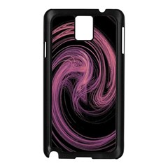 A Pink Purple Swirl Fractal And Flame Style Samsung Galaxy Note 3 N9005 Case (black)