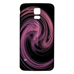 A Pink Purple Swirl Fractal And Flame Style Samsung Galaxy S5 Back Case (white) by Simbadda
