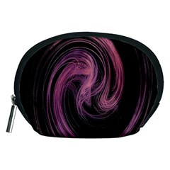 A Pink Purple Swirl Fractal And Flame Style Accessory Pouches (medium)  by Simbadda