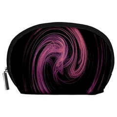 A Pink Purple Swirl Fractal And Flame Style Accessory Pouches (large)  by Simbadda