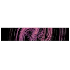 A Pink Purple Swirl Fractal And Flame Style Flano Scarf (large) by Simbadda