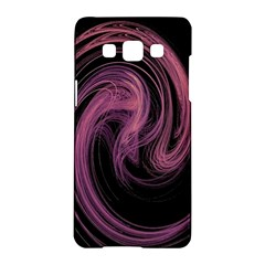 A Pink Purple Swirl Fractal And Flame Style Samsung Galaxy A5 Hardshell Case  by Simbadda