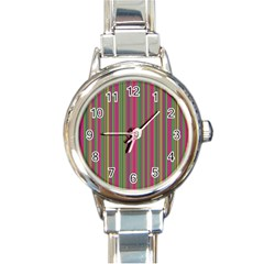 Lines Round Italian Charm Watch by Valentinaart