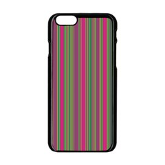Lines Apple Iphone 6/6s Black Enamel Case