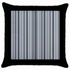Lines Throw Pillow Case (black) by Valentinaart