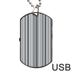Lines Dog Tag Usb Flash (one Side) by Valentinaart