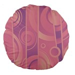Pattern Large 18  Premium Round Cushions Front