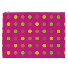 Polka Dots  Cosmetic Bag (xxl)