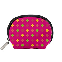 Polka Dots  Accessory Pouches (small)  by Valentinaart