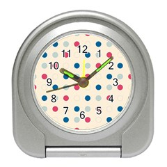 Polka Dots  Travel Alarm Clocks by Valentinaart
