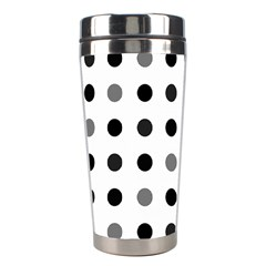 Polka Dots  Stainless Steel Travel Tumblers by Valentinaart