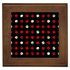 Polka Dots  Framed Tiles