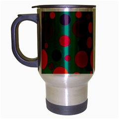 Polka Dots Travel Mug (silver Gray) by Valentinaart