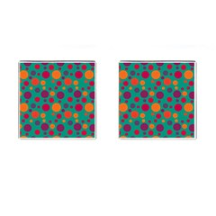 Polka Dots Cufflinks (square) by Valentinaart