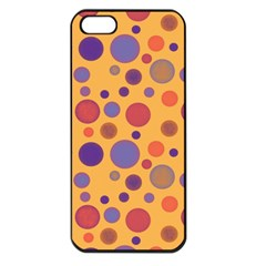 Polka Dots Apple Iphone 5 Seamless Case (black)