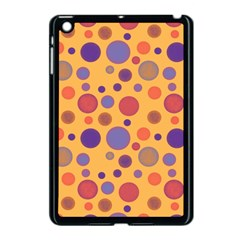 Polka Dots Apple Ipad Mini Case (black) by Valentinaart