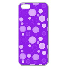Polka Dots Apple Seamless Iphone 5 Case (clear)