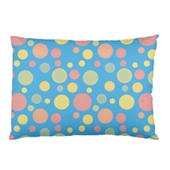 Polka Dots Pillow Case (two Sides) by Valentinaart