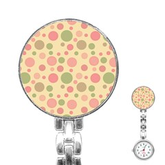 Polka Dots Stainless Steel Nurses Watch by Valentinaart
