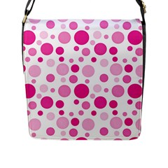 Polka Dots Flap Messenger Bag (l)