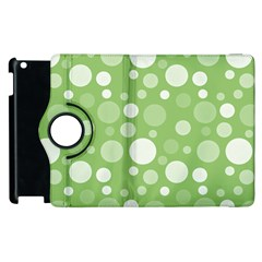 Polka Dots Apple Ipad 2 Flip 360 Case by Valentinaart