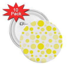 Polka Dots 2 25  Buttons (10 Pack)  by Valentinaart
