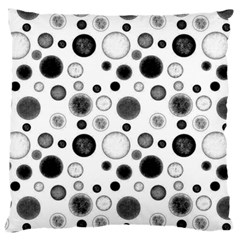 Polka Dots Large Flano Cushion Case (one Side) by Valentinaart