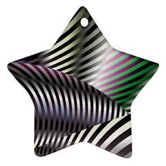 Fractal Zebra Pattern Ornament (star) by Simbadda