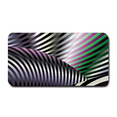 Fractal Zebra Pattern Medium Bar Mats by Simbadda