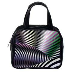 Fractal Zebra Pattern Classic Handbags (one Side) by Simbadda