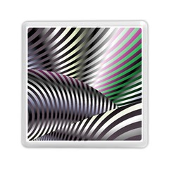 Fractal Zebra Pattern Memory Card Reader (square)  by Simbadda