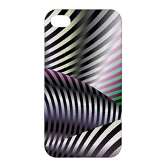 Fractal Zebra Pattern Apple Iphone 4/4s Hardshell Case by Simbadda