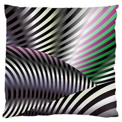 Fractal Zebra Pattern Large Cushion Case (two Sides) by Simbadda