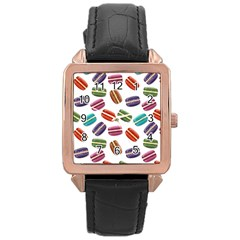 Macaroons  Rose Gold Leather Watch