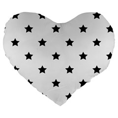 Stars Pattern Large 19  Premium Heart Shape Cushions by Valentinaart