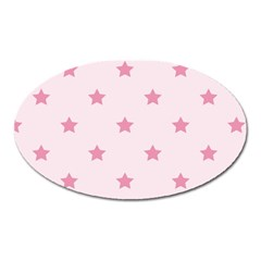 Stars Pattern Oval Magnet by Valentinaart