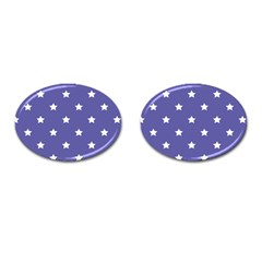 Stars Pattern Cufflinks (oval) by Valentinaart