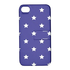 Stars Pattern Apple Iphone 4/4s Hardshell Case With Stand