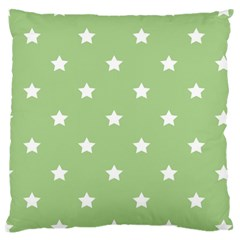 Stars Pattern Large Flano Cushion Case (one Side) by Valentinaart