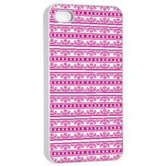 Pattern Apple Iphone 4/4s Seamless Case (white) by Valentinaart